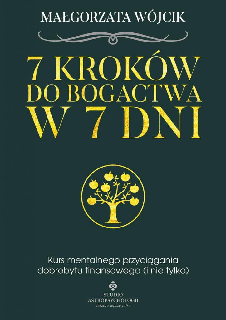 7 kroków do bogactwa w 7 dni. Kurs mentalnego przyciągania dobrobytu finansowego (i nie tylko) - Okładka książki