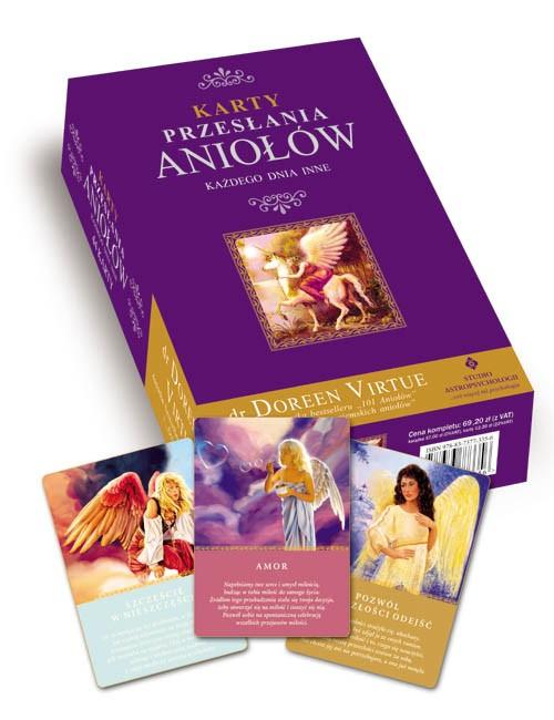 Karty Przesłania Aniołów każdego dnia inne + książka - Okładka książki