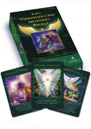 Karty uzdrawiająca moc archanioła Rafaela + książka - Okładka książki