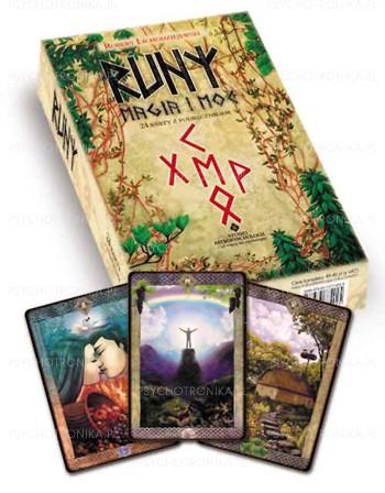 Runy magia i moc – książka + karty - Okładka książki