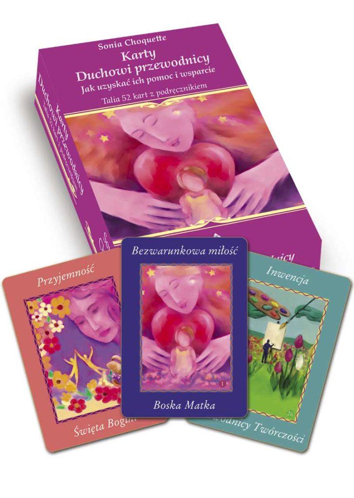 Karty. Duchowi przewodnicy. Jak uzyskać ich pomoc i wsparcie - Okładka książki